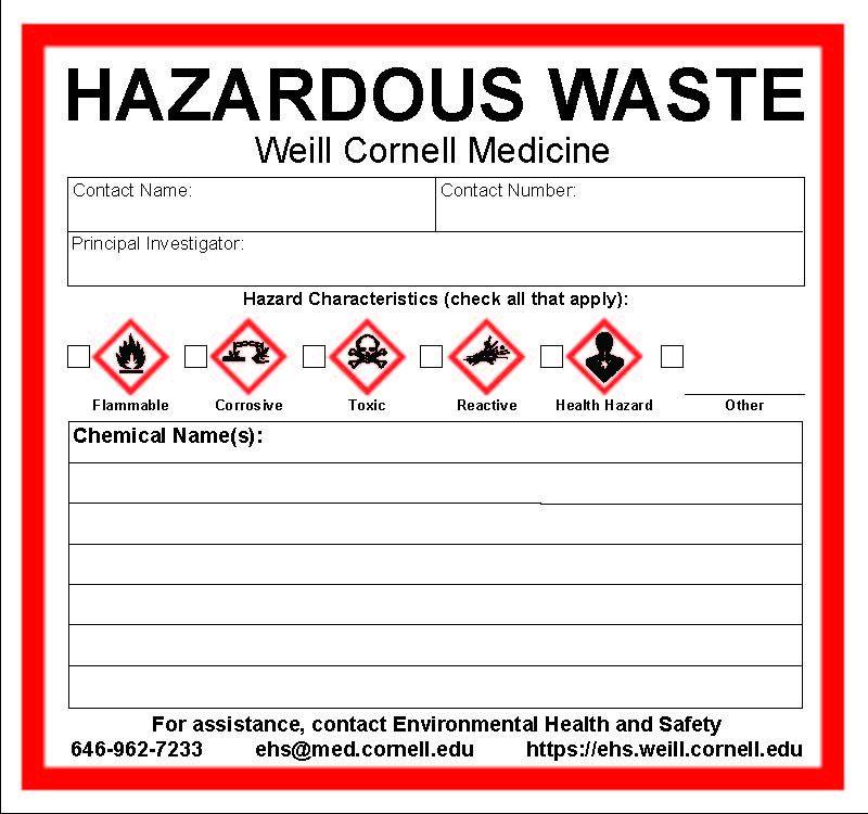 Hazardous Waste Storage Container Requirements