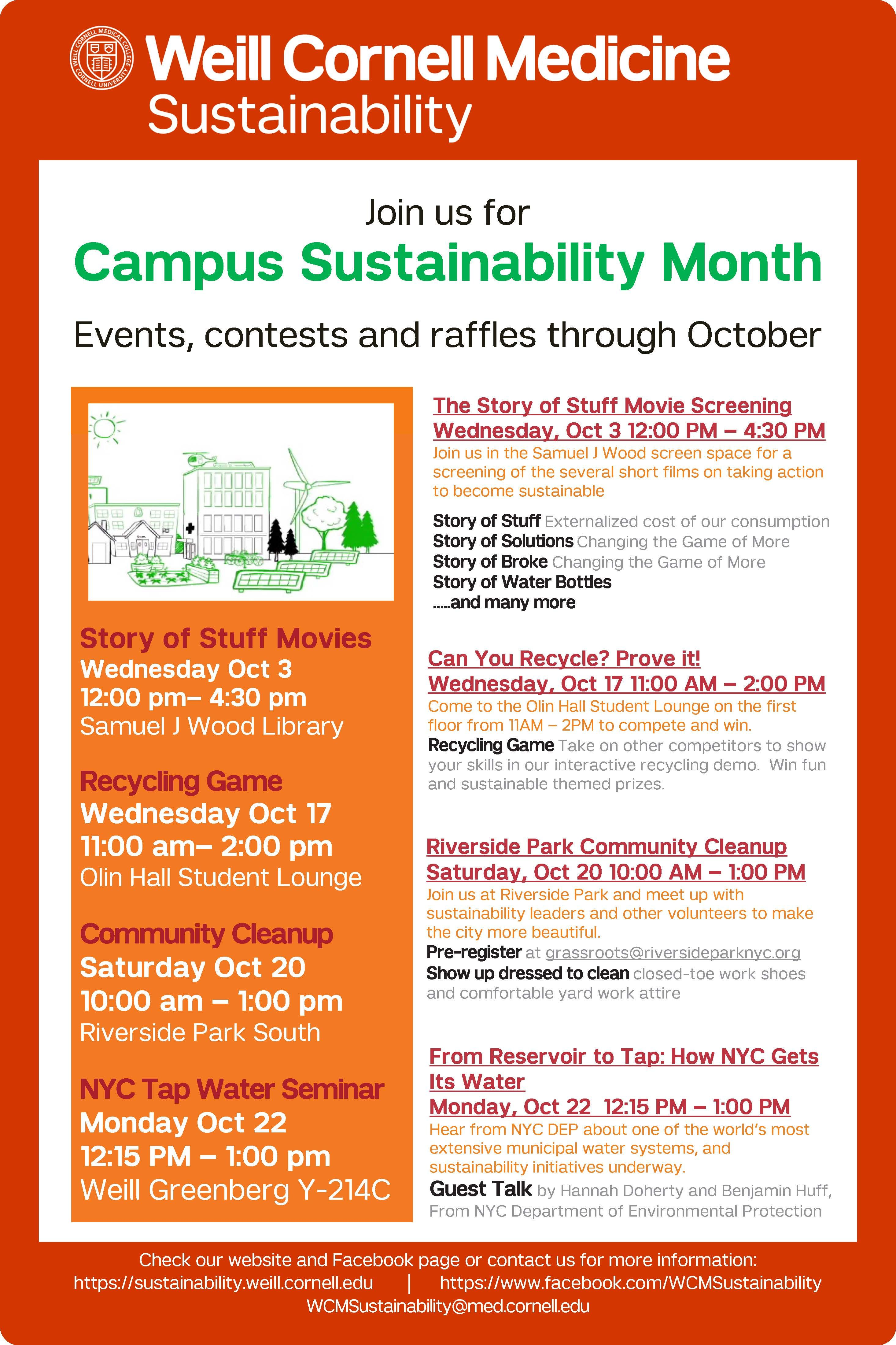 Campus Sustainability Month 2018 Events